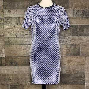 Knit Dress Short Sleeve Topshop Geometric Print 12